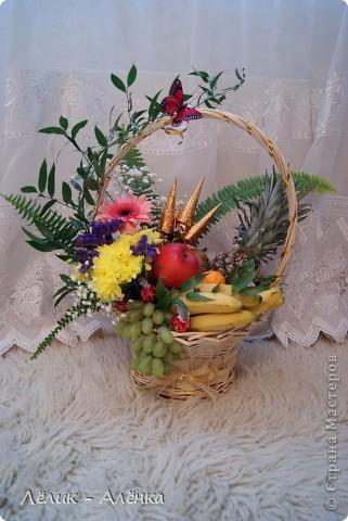 Композиции из цветов своими руками в корзинке мастер класс