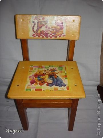 Декупаж детского стула своими руками 11