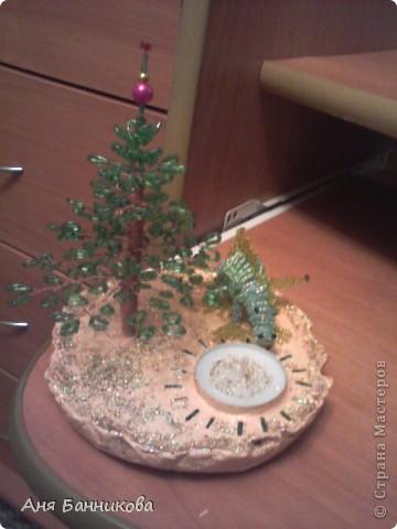 Деревья и цветы из бисера. фото 5