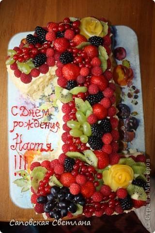Торт на день рождения с фруктами своими руками рецепт с 88