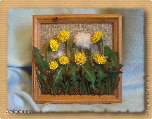 Картина с цветами из лент своими руками