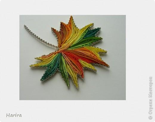 Осенний лист из макарон поделка
