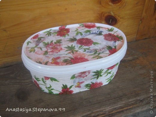 Коробочка из под мороженого,без складочек не обойтись))) фото 1
