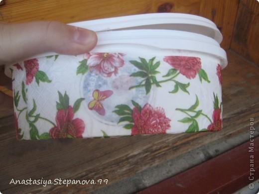 Коробочка из под мороженого,без складочек не обойтись))) фото 2