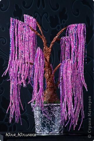 Мое 1-ое дерево - Эйва.  В первый раз попробовала плести из бисера, когда помогала собственной дочке сделать поделку...