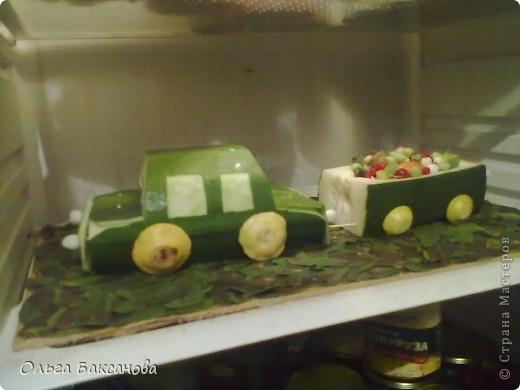 Поделка машина из овощей с фото