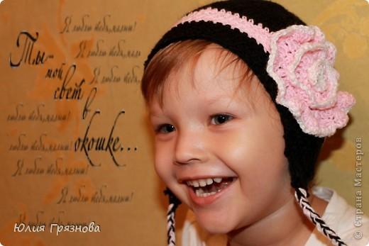 Холод не за горами, осень уже напоминает о себе и поэтому у меня связалась вот такая шапочка для доченьки любимой! фото 1