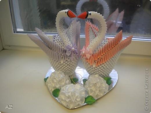 свадебные лебеди: по МК iv.olga идея подставки и оформления - сайт Галины Тиховой цветы сделаны по МК Аннэт Пономарёвой фото 1