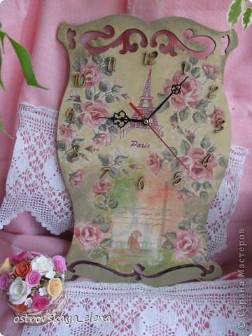 И не только розы....Часы и малюсенькая шкатулочка. фото 1