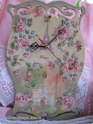 И не только розы....Часы и малюсенькая шкатулочка. фото 2