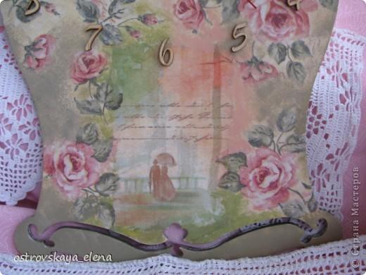 И не только розы....Часы и малюсенькая шкатулочка. фото 5