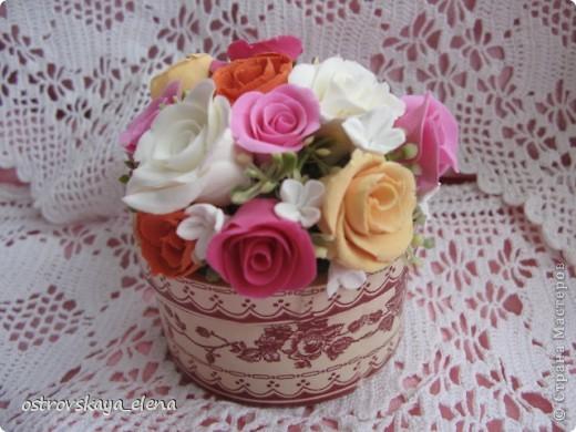 И не только розы....Часы и малюсенькая шкатулочка. фото 6