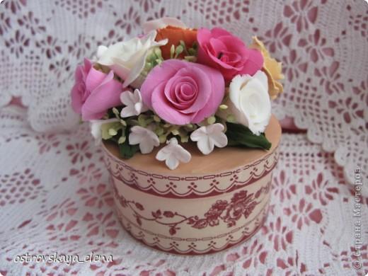 И не только розы....Часы и малюсенькая шкатулочка. фото 7