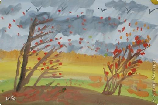 И живопись осенний пейзаж гуашь фото 1