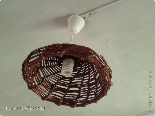Плетение люстры из газетных трубочек