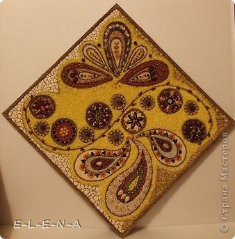 Картина панно рисунок Кухонное панно Крупа Семена Скорлупа яичная Шпагат фото 5