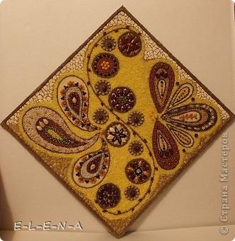 Картина панно рисунок Кухонное панно Крупа Семена Скорлупа яичная Шпагат фото 6