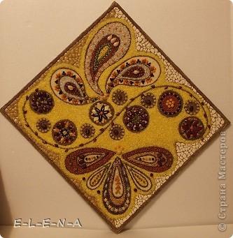 Картина панно рисунок Кухонное панно Крупа Семена Скорлупа яичная Шпагат фото 7
