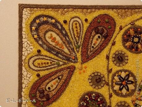 Картина панно рисунок Кухонное панно Крупа Семена Скорлупа яичная Шпагат фото 9