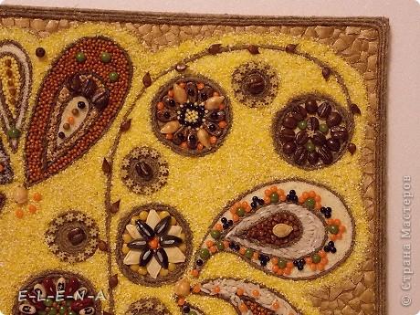 Картина панно рисунок Кухонное панно Крупа Семена Скорлупа яичная Шпагат фото 10