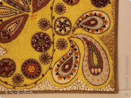 Картина панно рисунок Кухонное панно Крупа Семена Скорлупа яичная Шпагат фото 12
