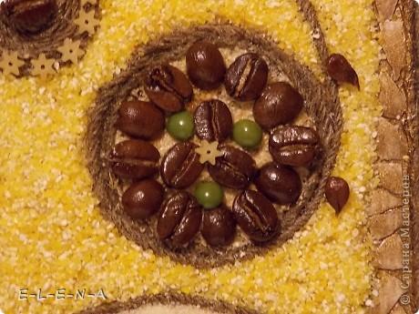 Картина панно рисунок Кухонное панно Крупа Семена Скорлупа яичная Шпагат фото 15