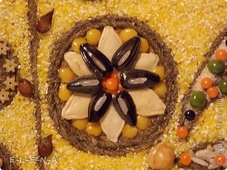 Картина панно рисунок Кухонное панно Крупа Семена Скорлупа яичная Шпагат фото 16