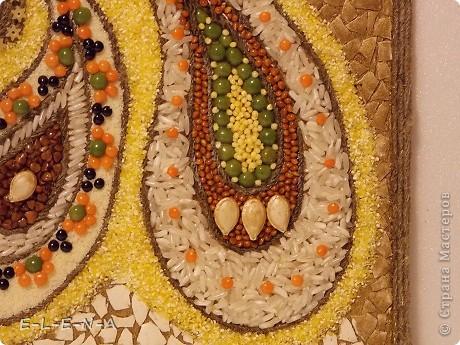 Картина панно рисунок Кухонное панно Крупа Семена Скорлупа яичная Шпагат фото 22