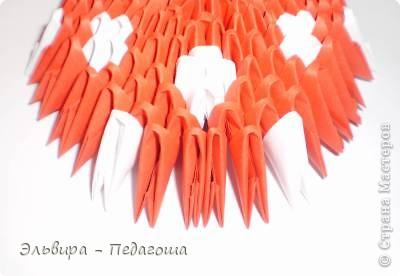 Мастер-класс Поделка изделие Оригами китайское модульное Мухоморчик Бумага фото 33