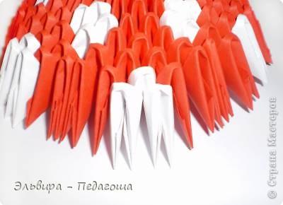 Мастер-класс Поделка изделие Оригами китайское модульное Мухоморчик Бумага фото 34