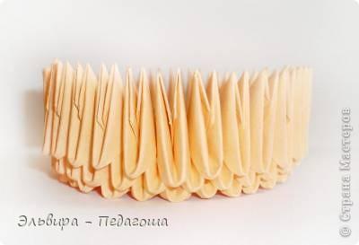 Мастер-класс Поделка изделие Оригами китайское модульное Мухоморчик Бумага фото 9