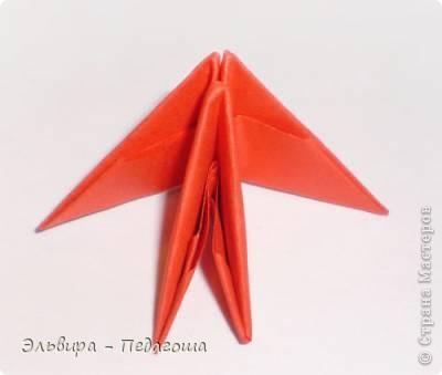 Мастер-класс Поделка изделие Оригами китайское модульное Мухоморчик Бумага фото 18