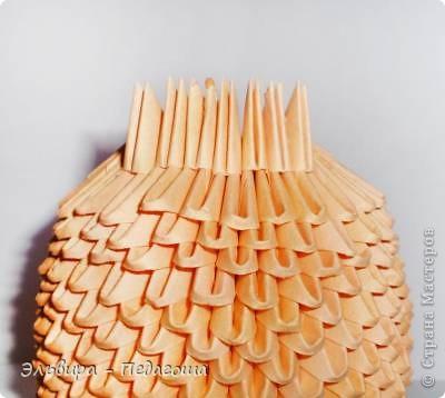 Мастер-класс Поделка изделие Оригами китайское модульное Мухоморчик Бумага фото 11