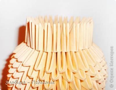 Мастер-класс Поделка изделие Оригами китайское модульное Мухоморчик Бумага фото 12