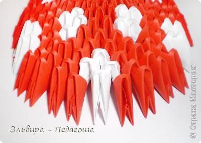 Мастер-класс Поделка изделие Оригами китайское модульное Мухоморчик Бумага фото 36