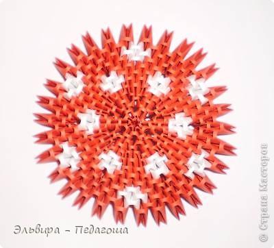 Мастер-класс Поделка изделие Оригами китайское модульное Мухоморчик Бумага фото 37