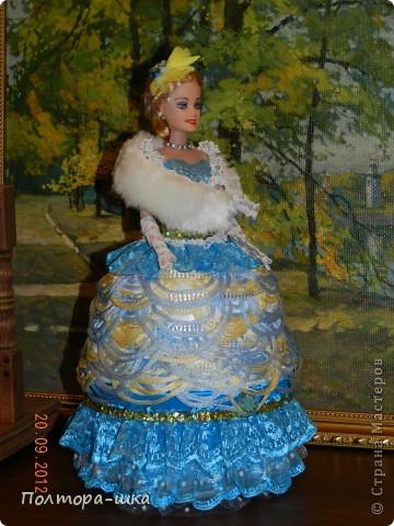 Куклы День рождения НОВАЯ КУКЛА - ШКАТУЛКА Бисер Клей Кружево Ленты Ткань фото 1.