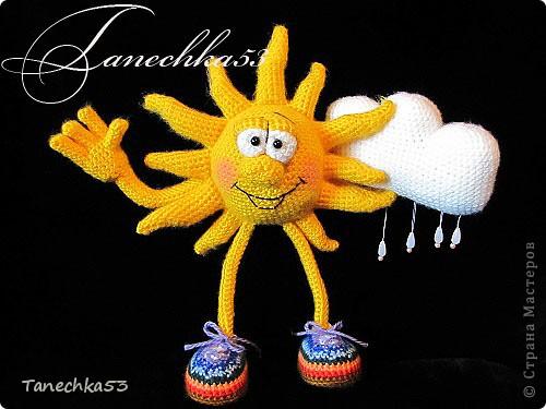 Вязание крючком солнышко
