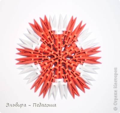 Мастер-класс Поделка изделие Оригами китайское модульное Мухоморчик Бумага фото 29