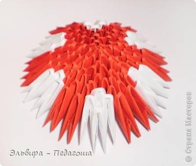 Мастер-класс Поделка изделие Оригами китайское модульное Мухоморчик Бумага фото 30