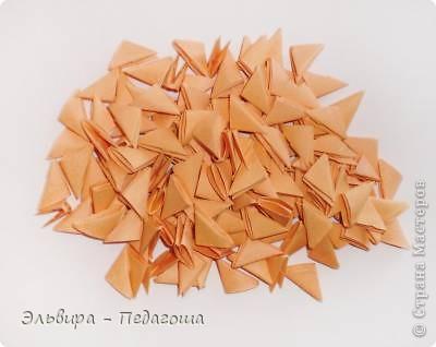 Мастер-класс Поделка изделие Оригами китайское модульное Мухоморчик Бумага фото 3