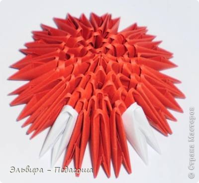 Мастер-класс Поделка изделие Оригами китайское модульное Мухоморчик Бумага фото 26