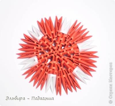 Мастер-класс Поделка изделие Оригами китайское модульное Мухоморчик Бумага фото 27