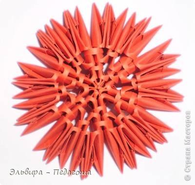 Мастер-класс Поделка изделие Оригами китайское модульное Мухоморчик Бумага фото 25
