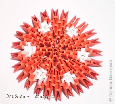 Мастер-класс Поделка изделие Оригами китайское модульное Мухоморчик Бумага фото 32
