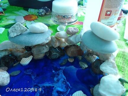моя повторюшка!изменения: форма, дополнена морскими камушками, основная зелень-сухоцвет фото 6