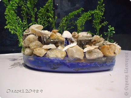 моя повторюшка!изменения: форма, дополнена морскими камушками, основная зелень-сухоцвет фото 10
