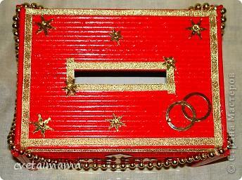 Коробка обклеена трубочками ,скрученные из газет. фото 5