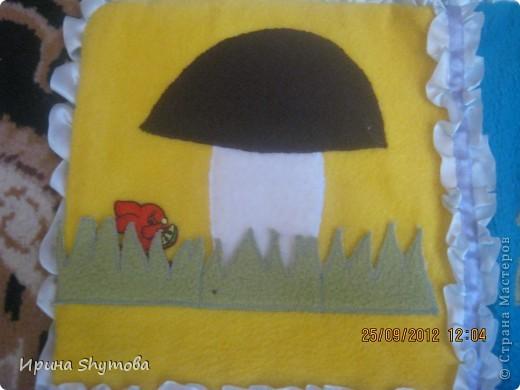 На рождение моего племяшки сделала ему коврик. За основу были взяты работы разных мастериц, но и своего доработано немало. фото 2