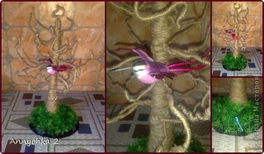 доброго вечера жители СМ! хочу показать Вам как я делаю дерево для украшений, может кому пригодится мой мк. на этом фото мое первое деревце (большое). дерево делается очень быстро, за вечер сделала 2 дерева.   фото 1